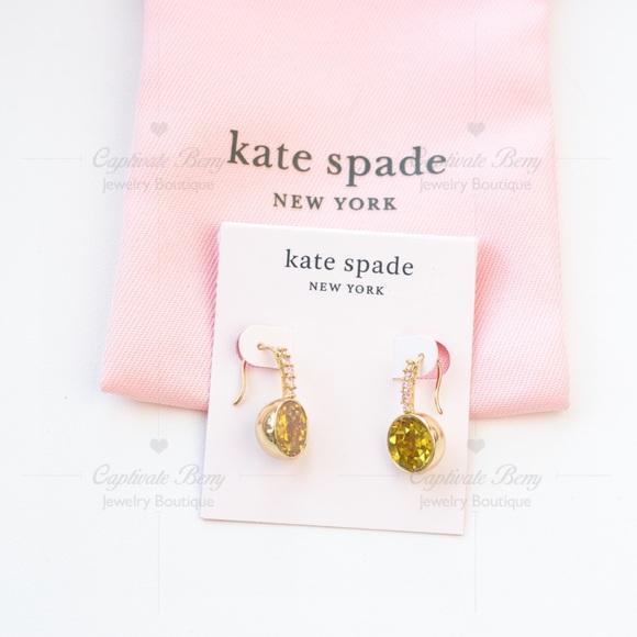 Kate Spade reflecting pool pavé round drop earring